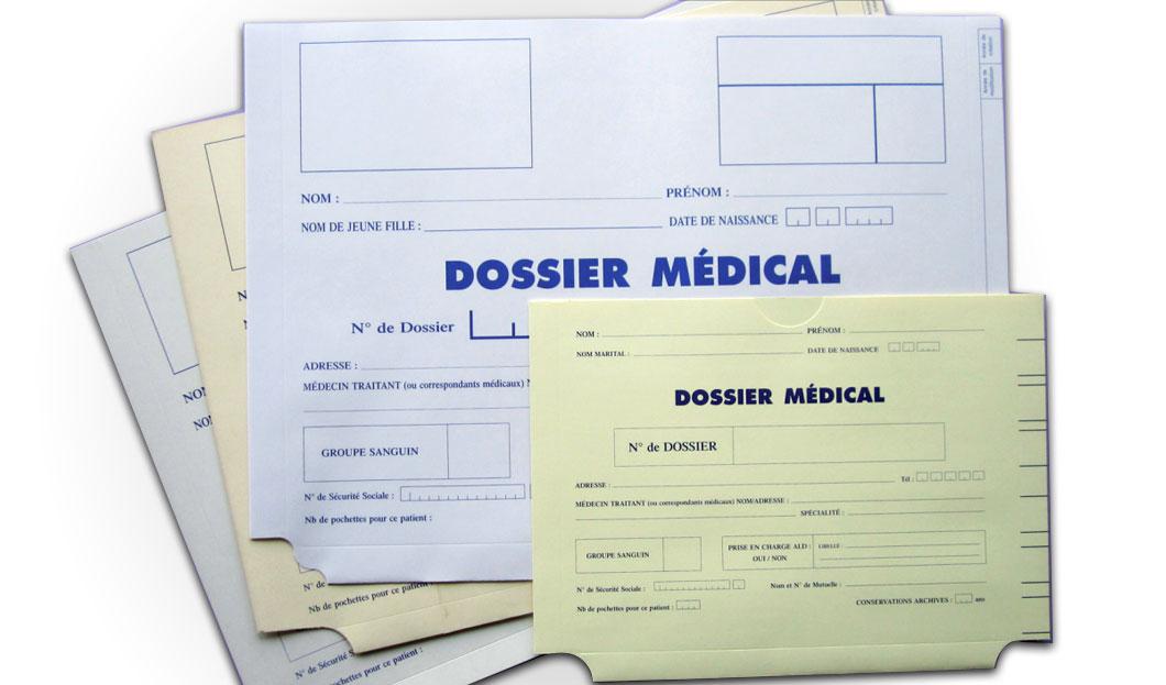 Pochettes pour archives médicales