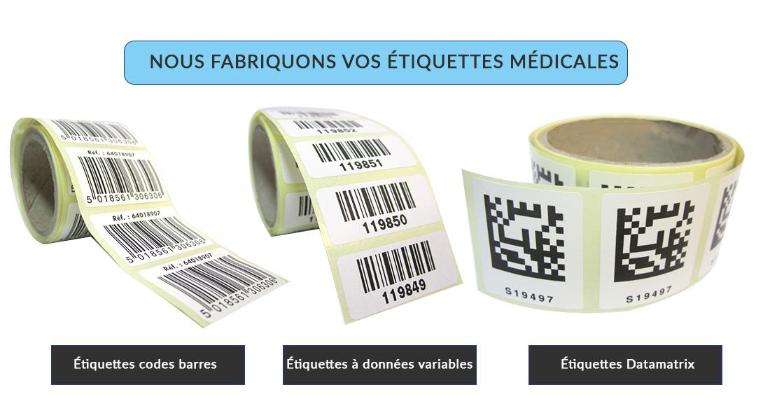 Fabricant d'étiquettes médicales sur-mesure