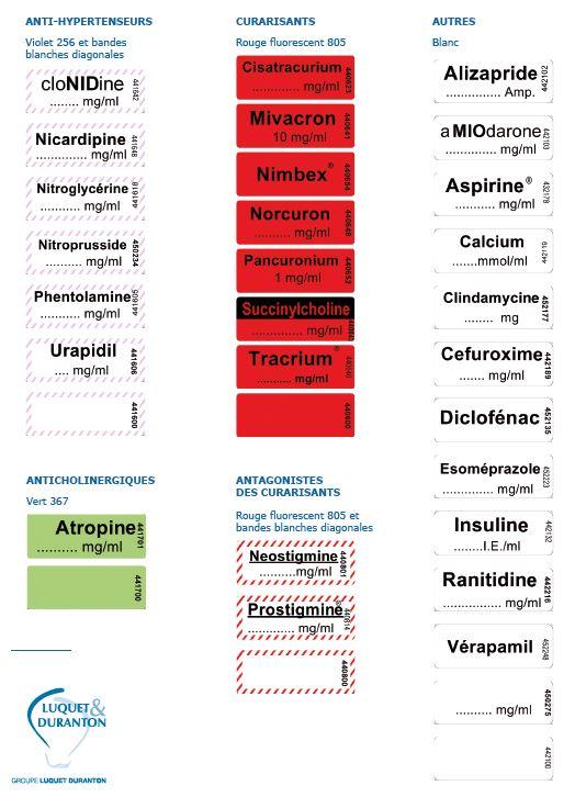 Exemples étiquettes